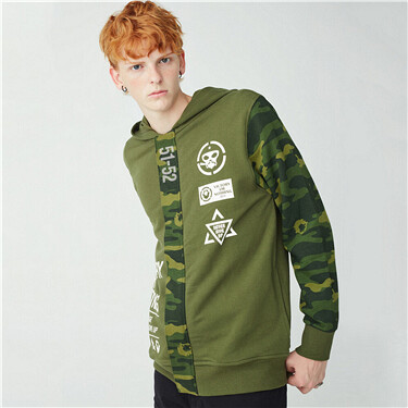 Camo printed VON hoodie