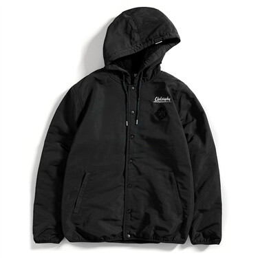 Von thick fleece hoodie coat