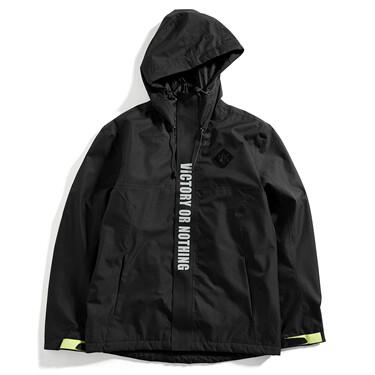 Von reflective printed hoodie coat