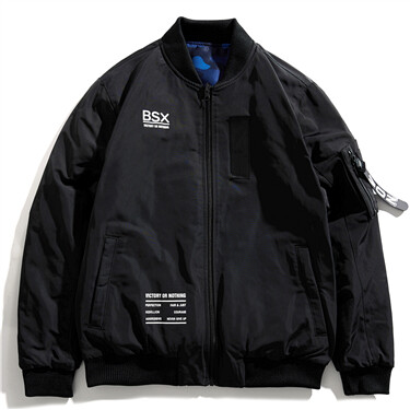 VON graphic letter patterns reversible jacket