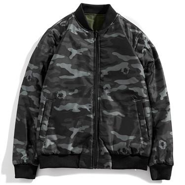 VON graphic letter patterns reversible jacket