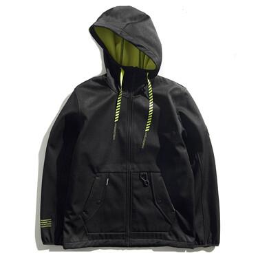 Von embroidery fleece hoodie