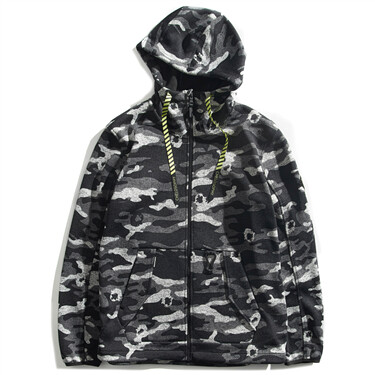 BSX patch polar fleece hooded coat