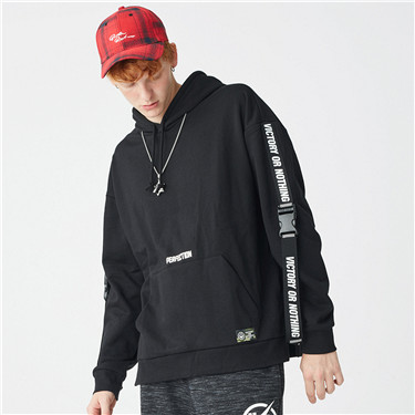 VON fleece letter hoodies