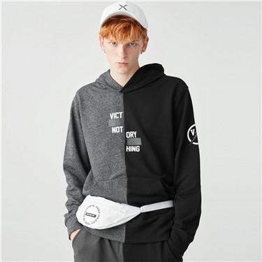 VON contrast printed hoodies