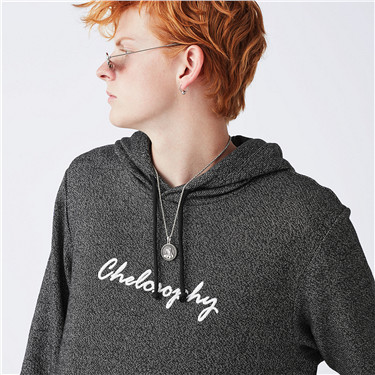 Embroidery letter hoodie