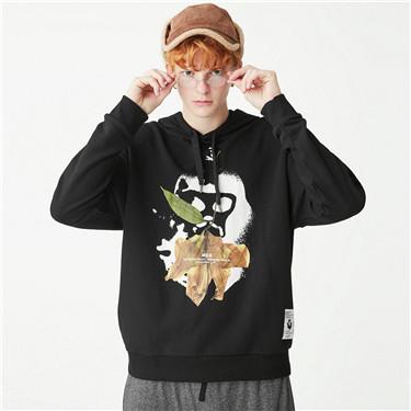 Printed VON pullover hoodie