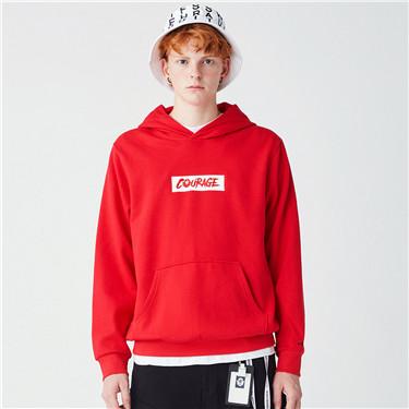 Printed fleece kanga pocket hoodies