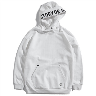 VON letter patterns fleece hoodie