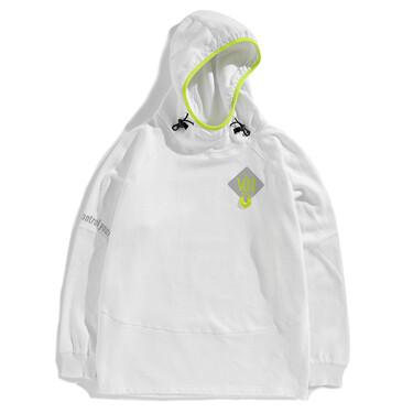 VON fluorescent printed loose hoodie