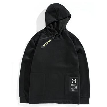 VON printed patterns fleece hoodie
