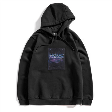 3D patterns fleece hoodie