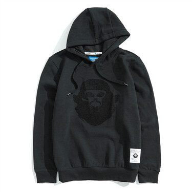 BSX fleece-lined VON embroidery hoodie