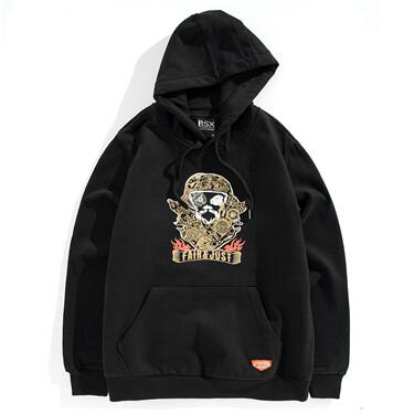 VON printed embroidery hoodie