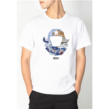 BSX Regular Fit Printed T- shirt