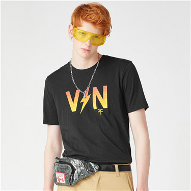 VON printed crewneck short-sleeve tee