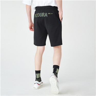 VON printed drawstring casual shorts