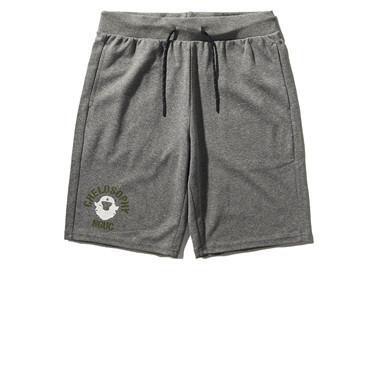 VON printed drawstring casual shorts