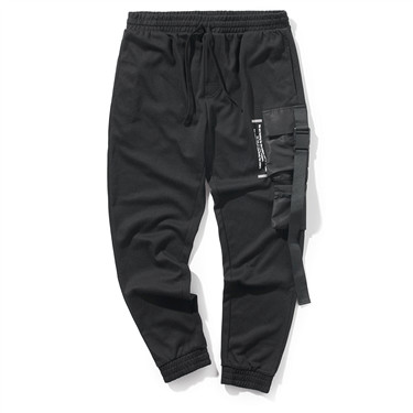 Printed cargo joggers