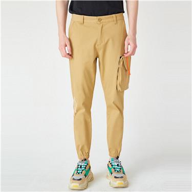 VON印花可拆工装袋束脚裤