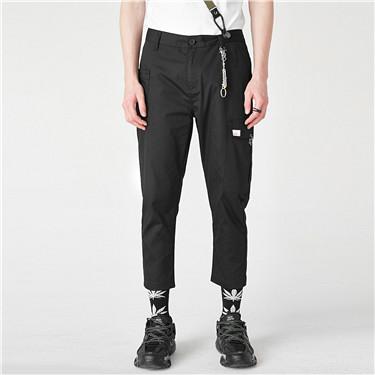 附潮流腰带休闲工装长裤
