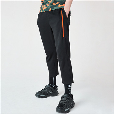 Letter printed casual pants
