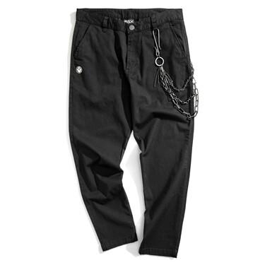 VON multi-pocket metal pendant casual pants