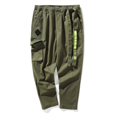 BSX patch printed straight pants