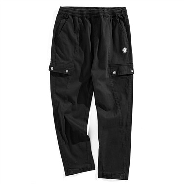 VON badge multi-pocket stretchy pants