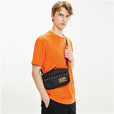 Contrast letter patch cross-body bag