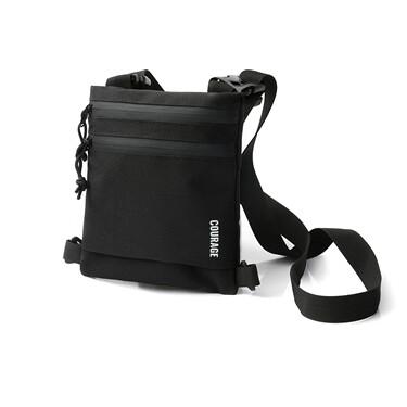 Printed shoulder messenger bag