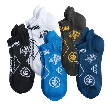 Von graphic non slip ankle socks (5-pairs)