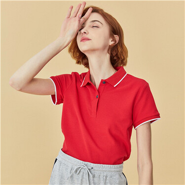 Pique slim short-sleeve polo shirt