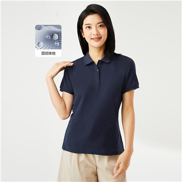 Slim short-sleeve pique polo shirt