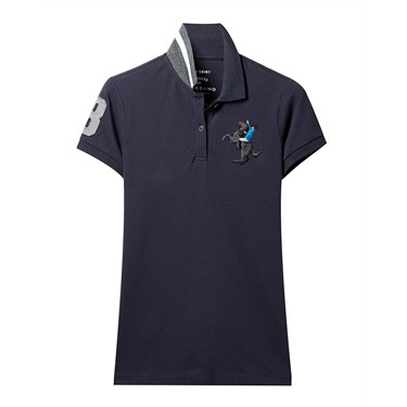 Embroidery pattern short sleeves polo (Women)