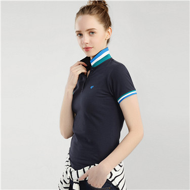 Frog embroidery short sleeves polo
