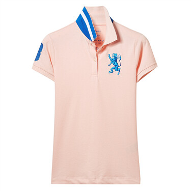 Lion multi-color embroidery short sleeves polo