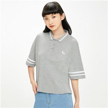Lycra stretchy short-sleeve polo shirt