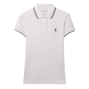 Contrast Color Embroidery Short Sleeve Polo Shirt