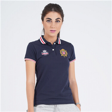 Women Bold Embroidery Polo