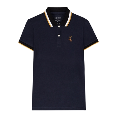 Deer Embroidery Polo Women