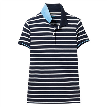 Pique stretchy stripe slim polo