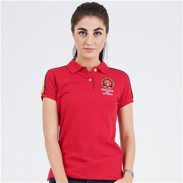 Women Bold Pique Polo