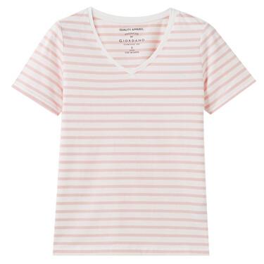 女裝V領短袖T恤