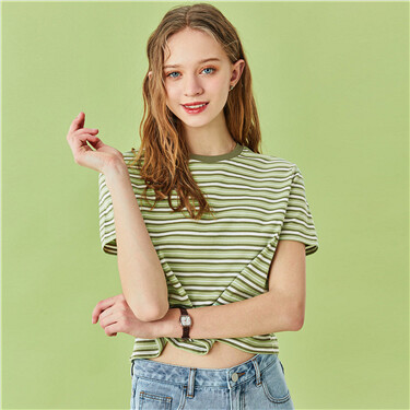 Stripe short-sleeve tee