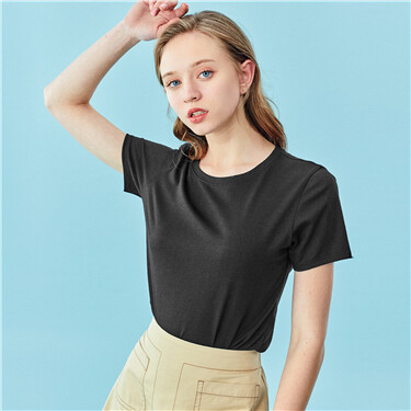 Slim crewneck short-sleeve tee