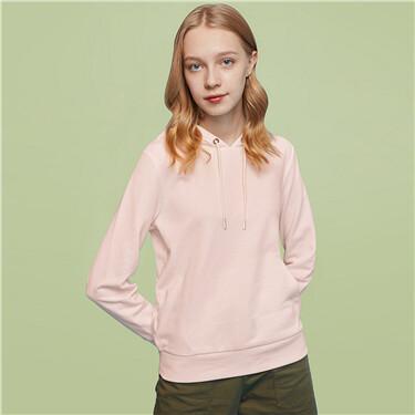Solid fleece-lined hoodie