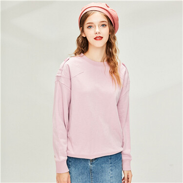 Dropped-sleeve loose crewneck sweatshirt