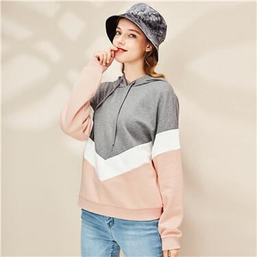 Contrast loose fit hoodie