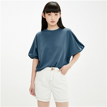Bandage cuffs three-quarter sleeves tee